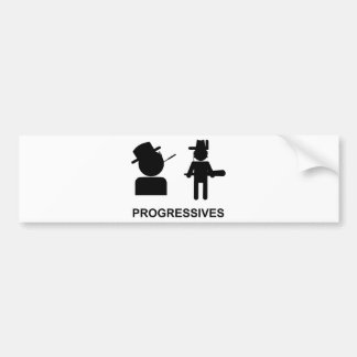 Progresistas Etiqueta De Parachoque