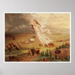 Progreso americano - destino manifiesto [1873] póster