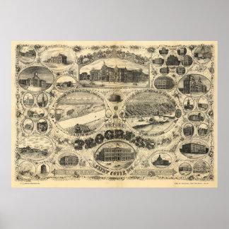 Progreso de St. Louis - 1884 (Vogel) BigMapBlog.co Póster