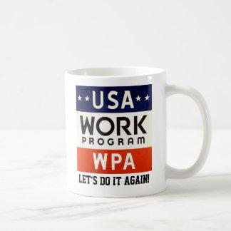 Progreso de trabajos de WPA Admin. ¡DEJE LOS E.E.U Taza Básica Blanca