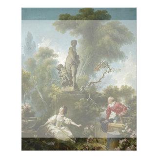 Progreso del amor: La cita por Fragonard Flyer A Todo Color
