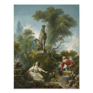 Progreso del amor: La cita por Fragonard Fotografias