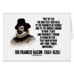 Progreso del obstáculo de sir Francis Bacon de la  Tarjeta