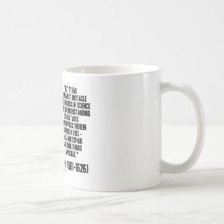 Progreso del obstáculo de sir Francis Bacon de la  Taza De Café