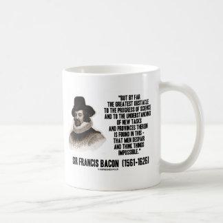 Progreso del obstáculo de sir Francis Bacon de la  Tazas De Café