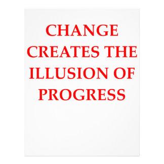 progreso membretes personalizados