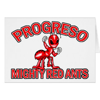 Progreso Mighty Red Ants Cards