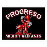 Progreso Mighty Red Ants Poster