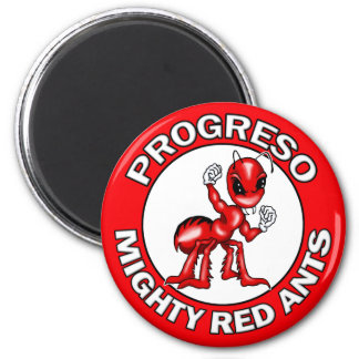 Progreso Mighty Red Ants Round Magnets