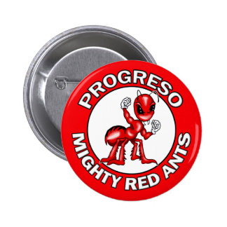 Progreso Mighty Red Ants Round Pins Buttons
