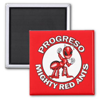 Progreso Mighty Red Ants Square Magnet