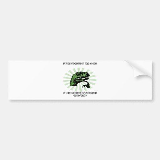 Progreso y congreso de Philosoraptor Etiqueta De Parachoque