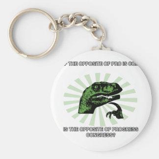 Progreso y congreso de Philosoraptor Llavero Redondo Tipo Pin