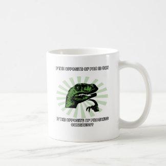 Progreso y congreso de Philosoraptor Taza De Café
