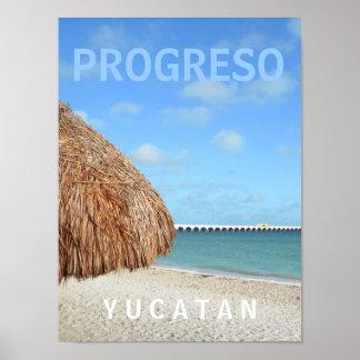PROGRESO YUCATAN MEXICO POSTER
