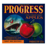 Progress Apple Crate LabelWatsonville, CA Poster
