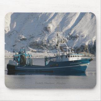 Progress, Fishing Trawler in Dutch Harbor, AK Mousepad