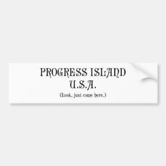 Progress Island U.S.A. bumper sticker