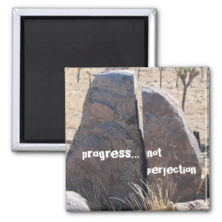 Progress not perfection 2 inch square magnet