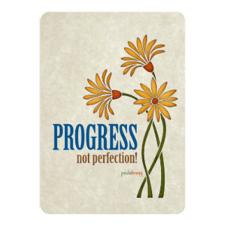 Progress, not perfection! (recovery quote) card