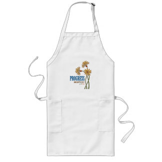 Progress, not perfection! (recovery quote) long apron