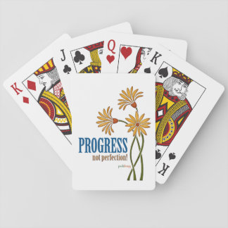 Progress, not perfection! (recovery quote) playing cards