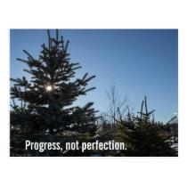Progress, not perfection - recovery slogan postcard