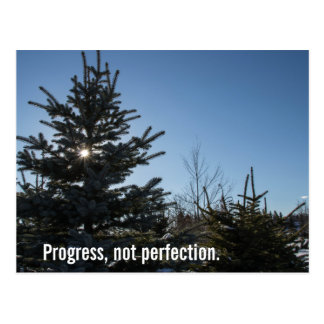 Progress, not perfection - recovery slogan postcard