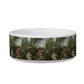 Progress of Love: The Rendezvous by Fragonard Pet Food Bowls