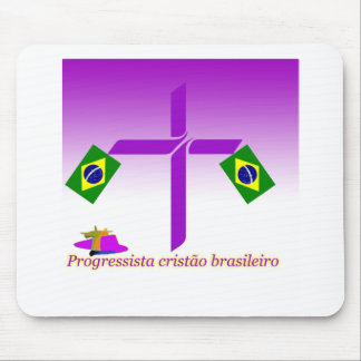 Progressista Cristão brasileiro Logo Mouse Pad
