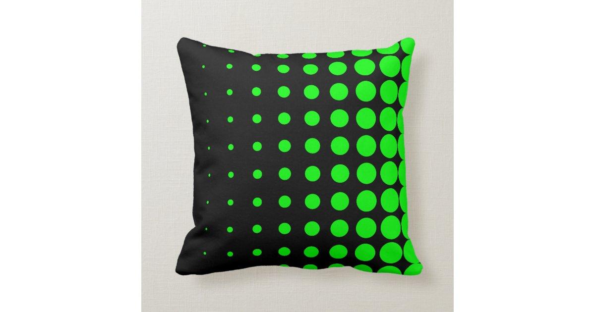 Progressive Lime Dot Size Throw Pillow Zazzle