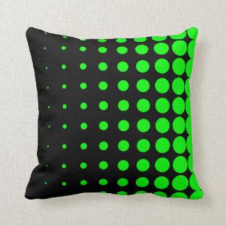 Progressive Lime Dot Size Throw Pillow