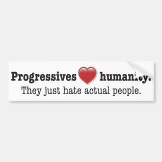 Progressive Love sticker Bumper Stickers