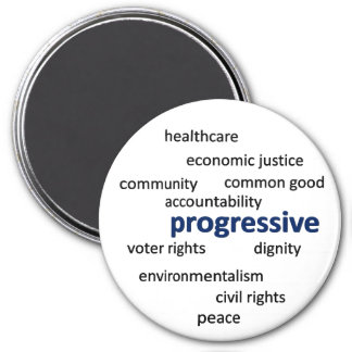 Progressive philosophy and values refrigerator magnets