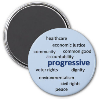 Progressive philosophy and values refrigerator magnet