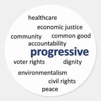 Progressive philosophy and values stickers