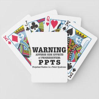 Progressive politics bicycle playing cards