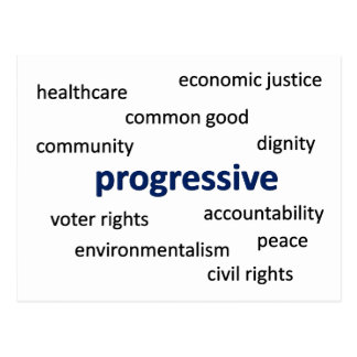 Progressive values and philosophy postcard