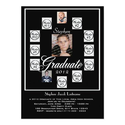 "Progressive Years Graduation Photo 5.5"" X 7.5"" Invitation Card"