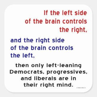Progressives in Right Mind Square Sticker