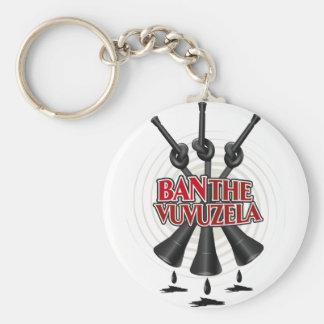 Prohíba el Vuvuzela Llavero Redondo Tipo Pin