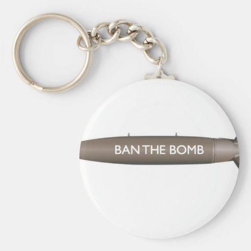 prohíba la bomba llavero