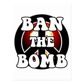 Prohíba la bomba tarjeta postal