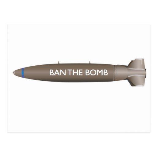 prohíba la bomba tarjetas postales