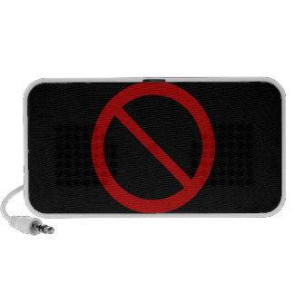 Prohíba o prohíba el símbolo iPhone altavoces