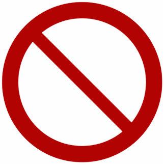 Prohíba o prohíba el símbolo fotoescultura vertical