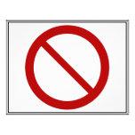 Prohíba o prohíba el símbolo tarjetón