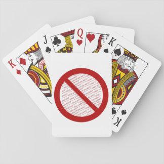 Prohíba o símbolo de la prohibición - añada la baraja de póquer