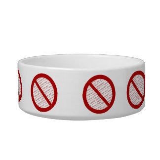 Prohíba o símbolo de la prohibición - añada la tazón para agua para gatos