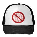 Prohíba o símbolo de la prohibición - añada la gorras de camionero